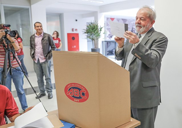 Lula fala na eleição do Sindicato dos Metalúrgicos do ABC