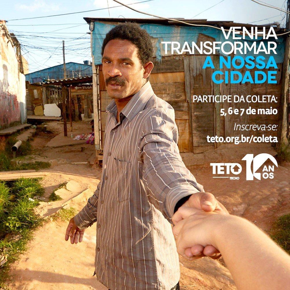 Nos dias 5, 6, e 7 de Maio os voluntários do Teto estarão nas ruas de 9 cidades do RJ, SP, PR, BA para denunciar a violação de direitos nas favelas do Brasil