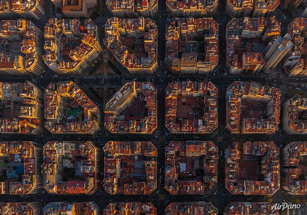Vista aérea de Barcelona, Espanha