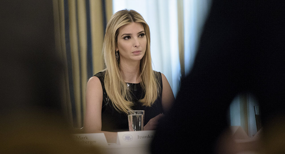 Ivanka Trump participa de uma reunião na Casa Branca, em Washington (arquivo)