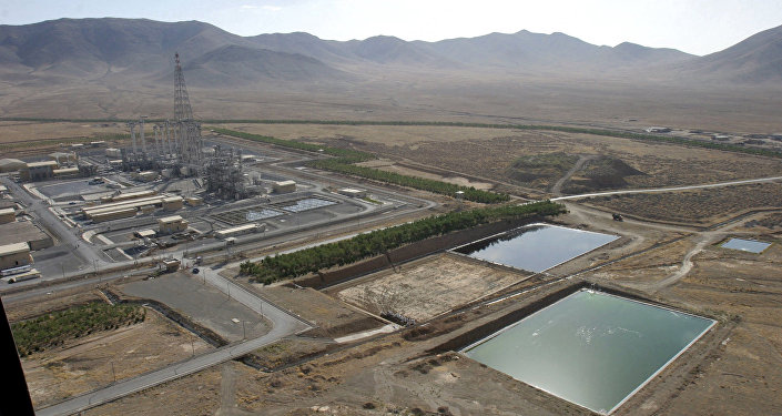 Vista geral do reator de água pesada na cidade iraniana de Arak