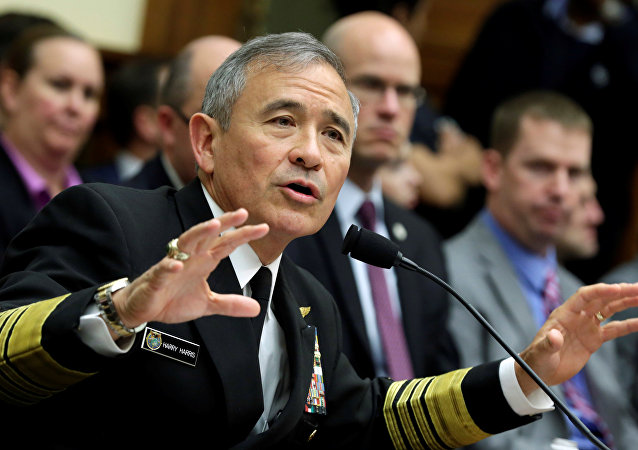 Almirante Harry Harris em Washington, 26 de abril, 2017