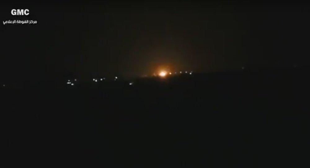 Incêndio perto do aeroporto internacional de Damasco após explosão