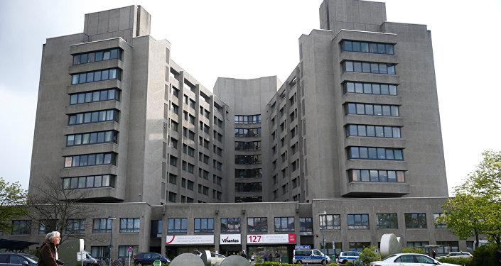 O hospital de Urban em Berlim visto em 27 de abril de 2017, após um tiroteio