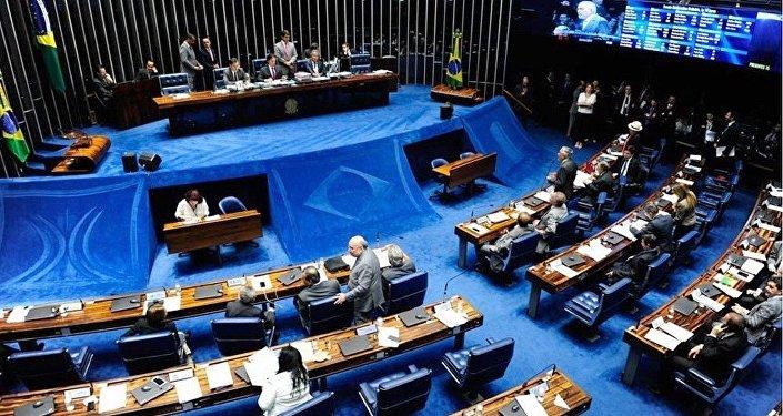 Sessão de votação no Senado, onde foi aprovado em 1º turno o fim do foro privilegiado