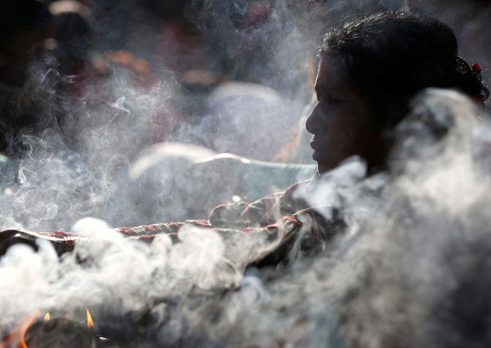 Oração no Dia da Mãe em Catmandu, Nepal