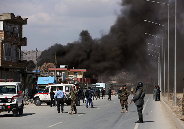 Explosão em Cabul, no Afeganistão, em março de 2017 (foto de arquivo)