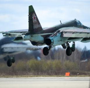 Su-25 no aeroporto militar de Kubinka.