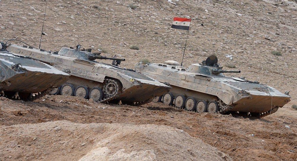 Veículos de combate de infantaria do exército sírio