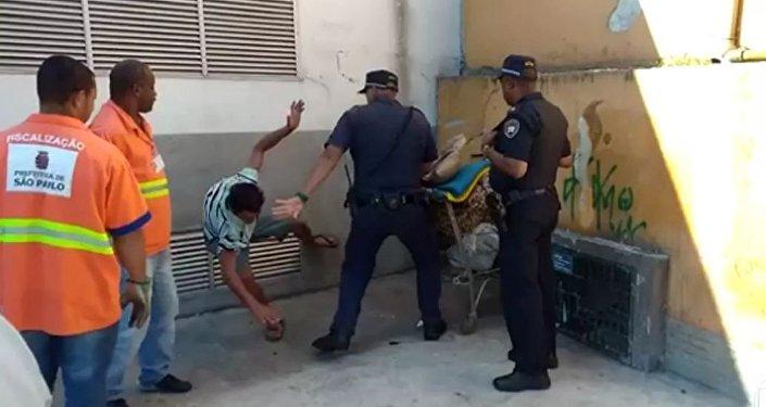 Morador de rua agredido em São Paulo