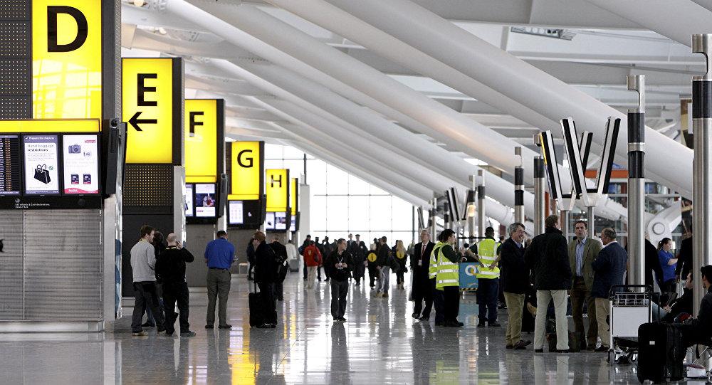 Terminal 5 do aeroporto de Heathrow, em Londres, Inglaterra