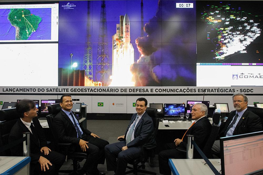 Transmissão do Lançamento do Satélite Geoestacionário de Defesa e Comunicações Estratégicas – SGDC.