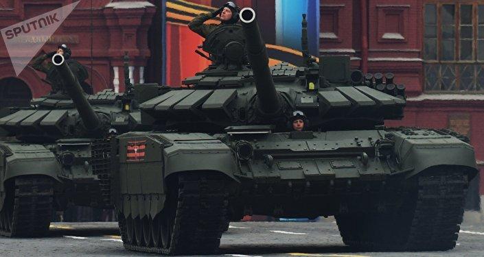 Tanque T-72B3 na Parada da Vitória (foto de arquivo)