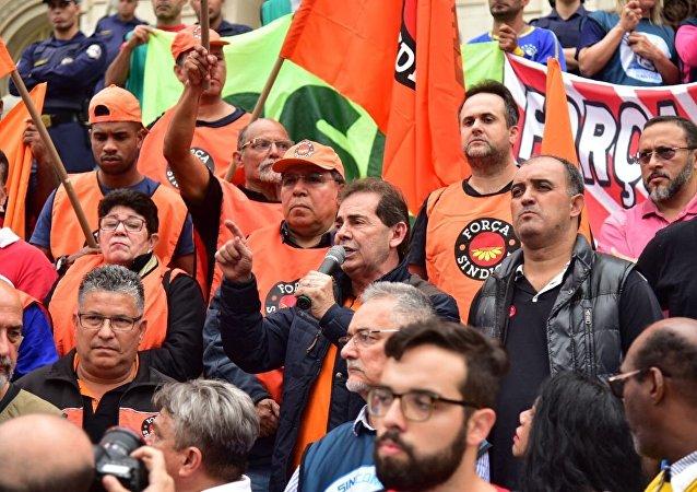 Manifestação da Força Sindical