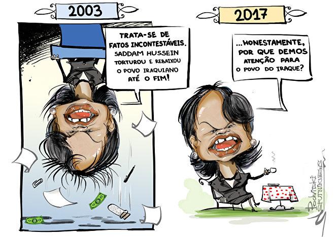 Condoleezza Rice 'planta bananeira' para situação iraquiana