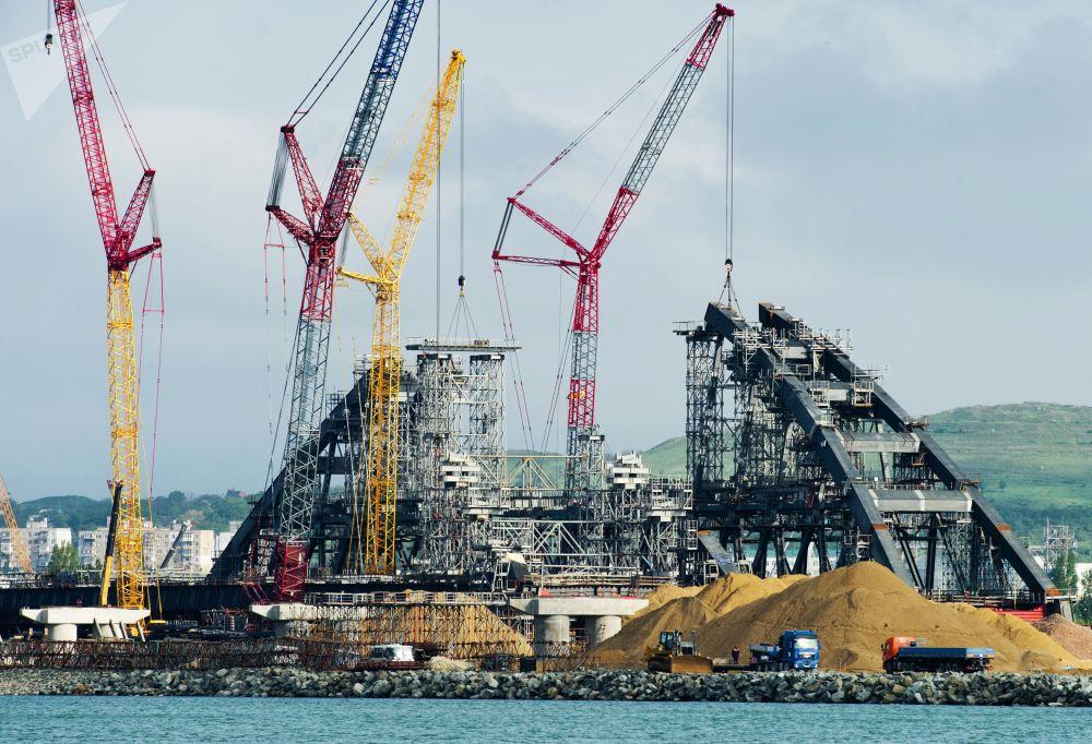Construção da ponte da Crimeia