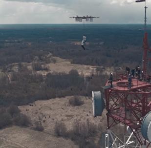 Primeiro salto inédito de drone