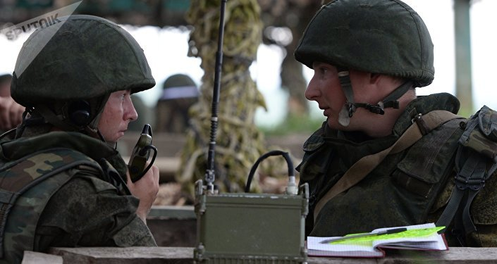 Soldados russos durante exercícios militares. Foto de arquivo