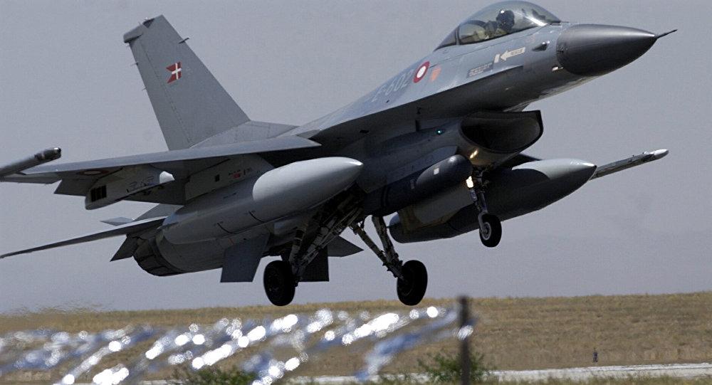 Caça F-16 da Força Aérea da Dinamarca