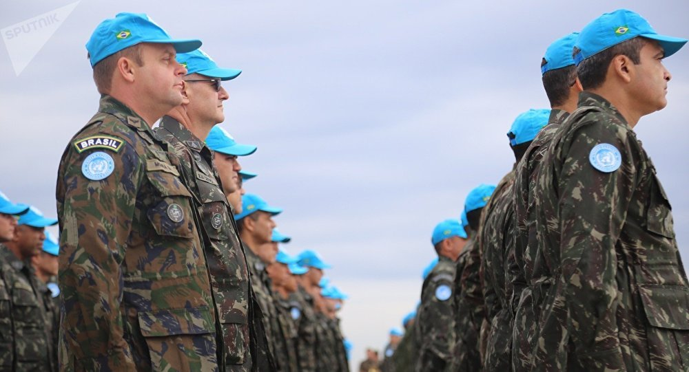 Soldados do BRABAT 26 embarcam em Campinas rumo ao Haiti