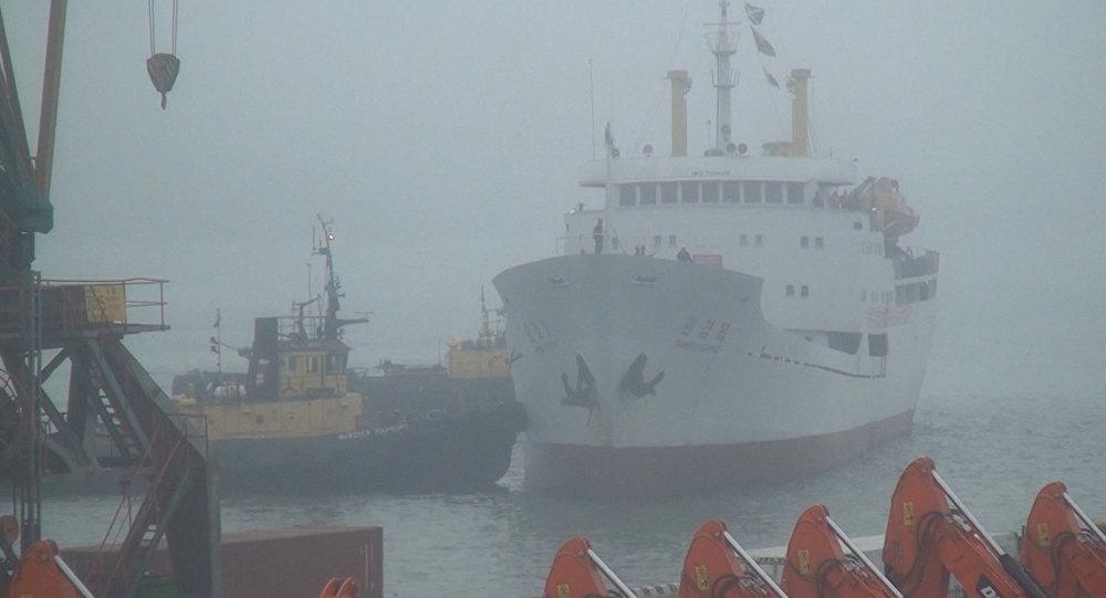 O primeiro navio de passageiros que circula entre Coreia do Norte e Rússia