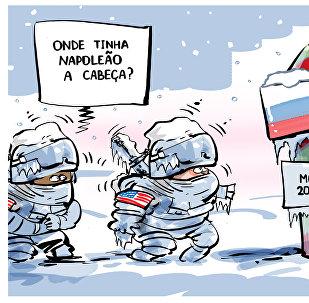 Soldados dos EUA conhecem 'frio infernal' russo