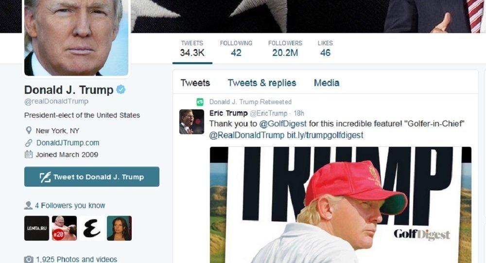 Conta de Donald Trump no Twitter