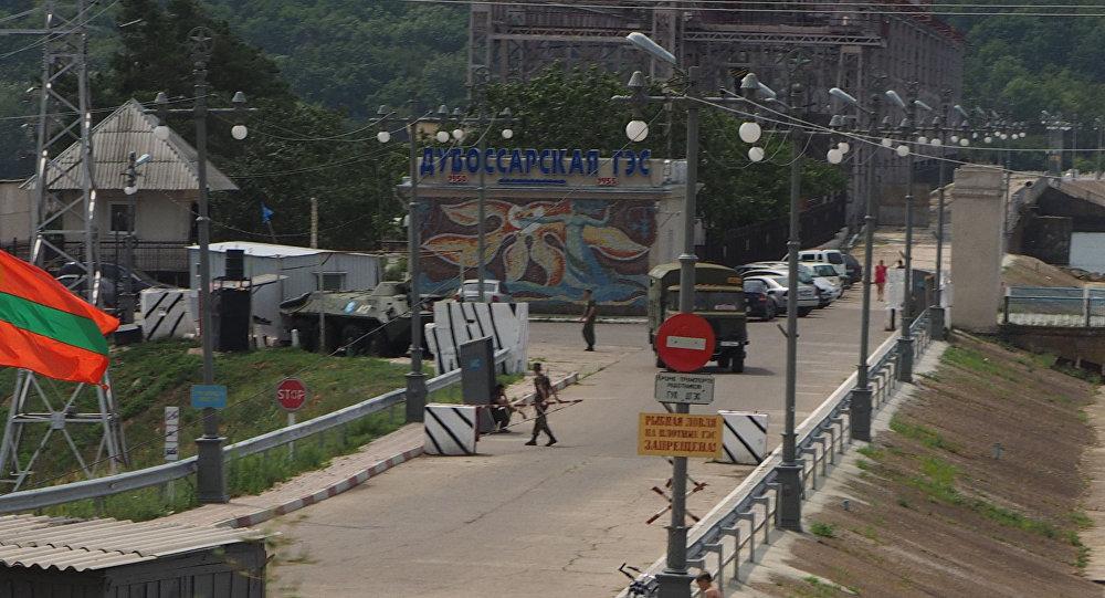 A fronteira entre Transnístria e Moldávia