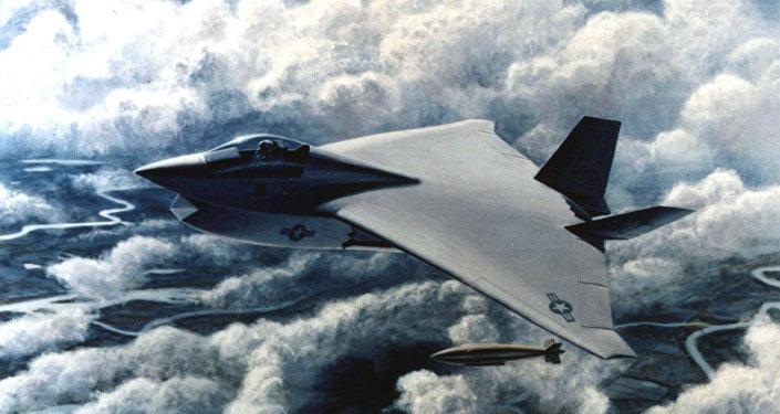 Ilustração conceptual do Boeing Joint Strike Fighter X-32B