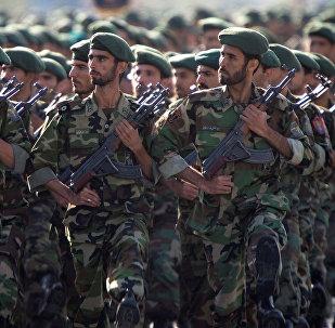 Militares do Corpo de Guardiões da Revolução Islâmica (CGRI)