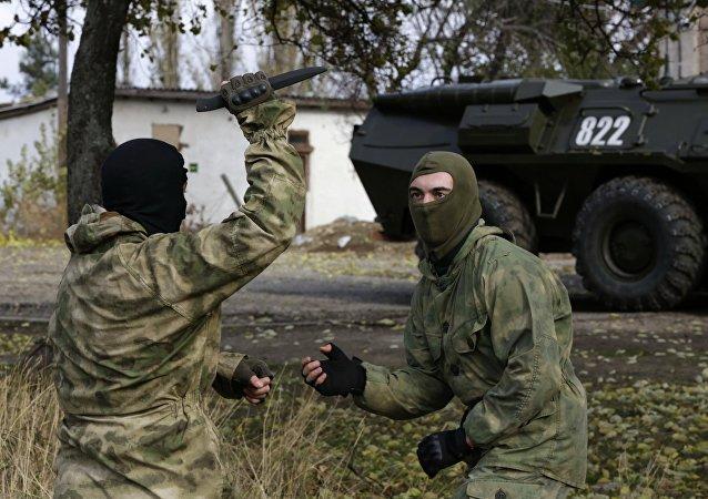 Apresentação das forças de segurança da Rússia na Crimeia