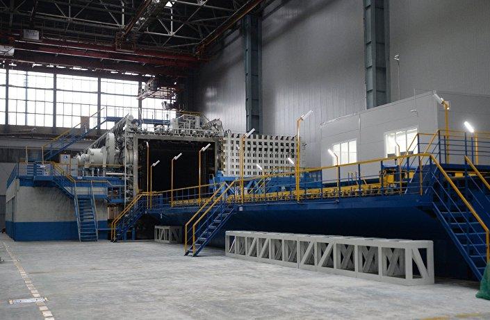 A instalação do recozimento de vácuo na fábrica de Kazan