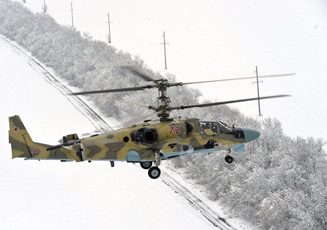 Helicóptero russo Ka-52 (foto de arquivo)