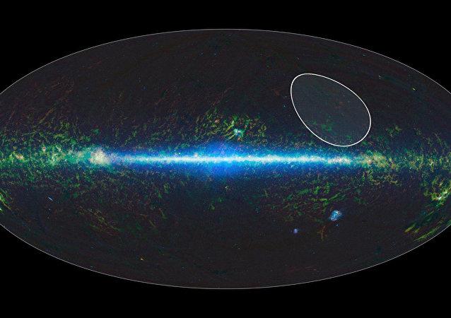 Mapa da NASA demonstra a localização da estrela TW Hydrae e do grupo de estrelas vizinhas