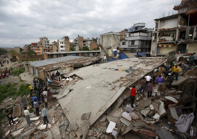 Terremoto no Nepal.