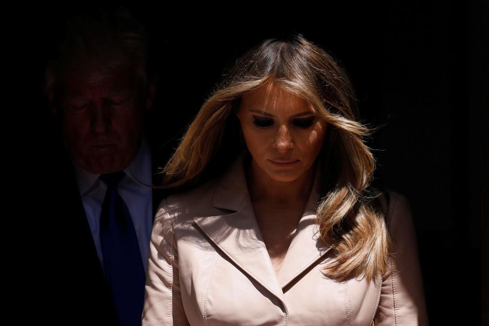 A primeira-dama dos EUA, Melania Trump, na Bélgica