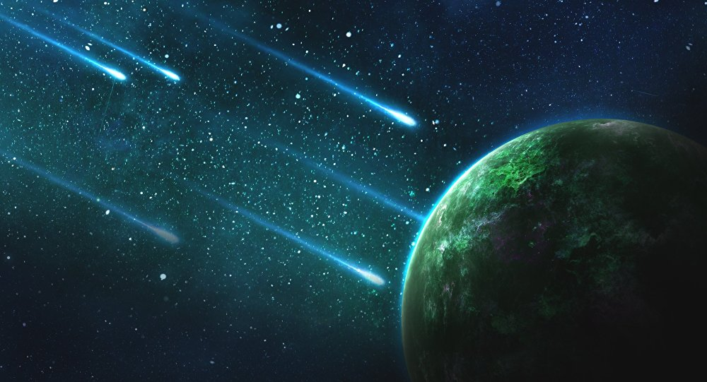 Meteoritos (ilustração artística)