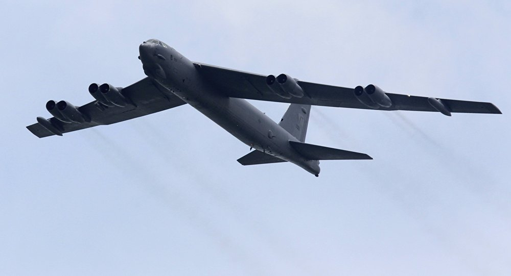 Bombardeiro estratégico B-52 da Força Aérea dos EUA (foto de arquivo)