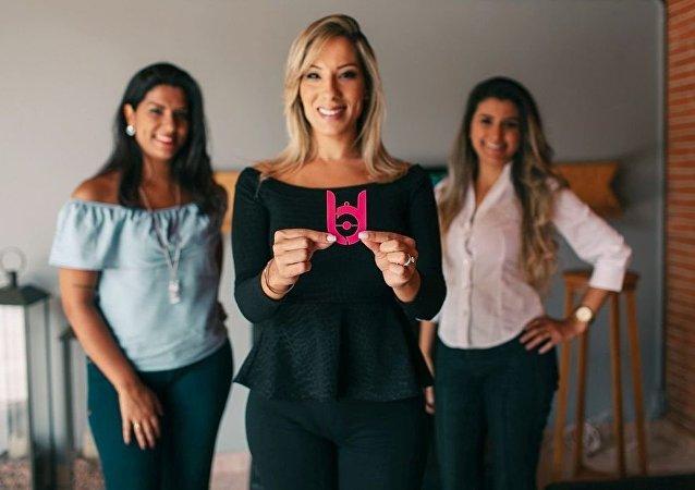 Sócias do app Lady Driver, Gabriela Correa (à frente) e as sócias Raquel Correa e Bianca Saad