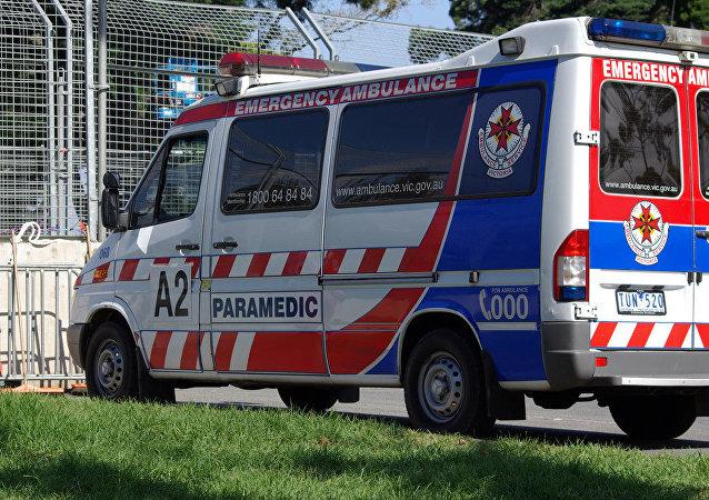 Ambulância no sul de Melbourne, foto de arquivo