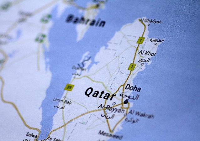 O mapa de Qatar