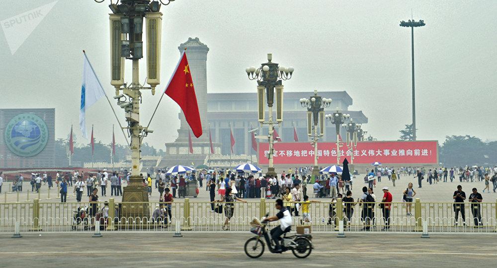 Praça da Paz Celestial (Tiananmen), em Pequim, é a terceira maior praça no mundo. Foto de arquivo