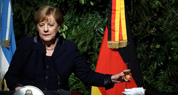 Chanceler alemã, Angela Merkel, na Argentina