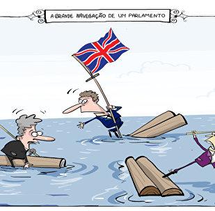 Acrobacia no parlamento do Reino Unido