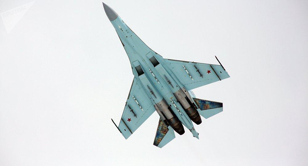 Su-27, caça que forçou avião da OTAN a se afastar de aeronave do ministro da Defesa da Rússia no Báltico