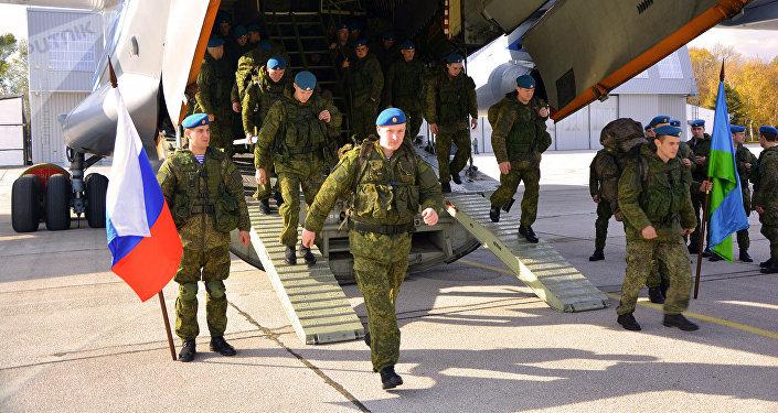 Exercícos militares Irmandade Eslávica (foto de arquivo)