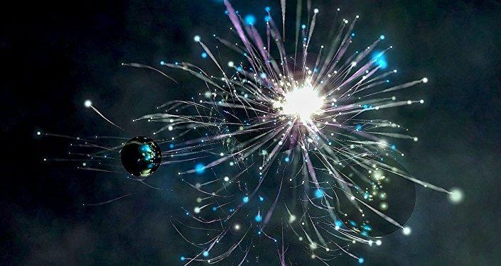 Uma explosão espacial (ilustração)