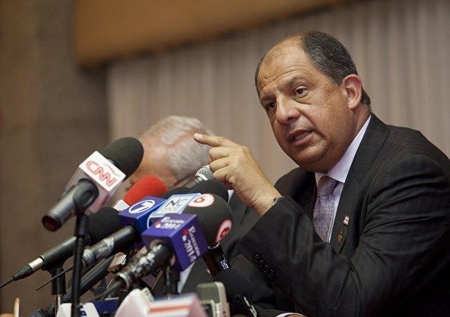 Luis Guillermo Solís, presidente da Costa Rica, arquivo