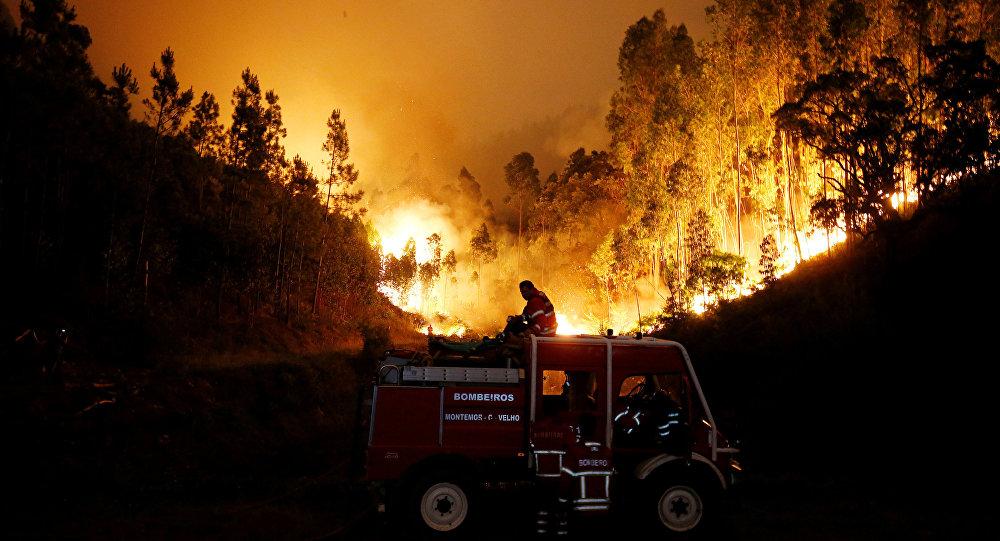 Incêndio em Pedrógão Grande, parte central de Portugal, 18 de junho de 2017