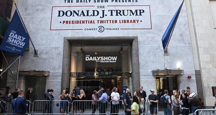 A Biblioteca do Twitter do presidente Donald Trump